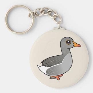 Greylag Goose Key Ring