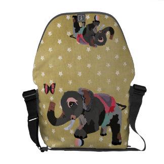 Grey's Majestic Elephant Gold Star Messenger Bag