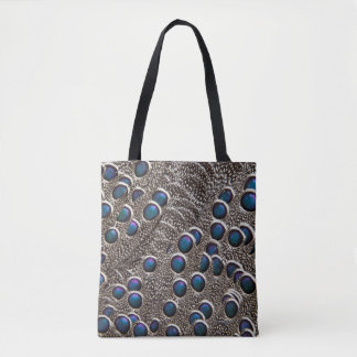 Greys Peacock-Pheasant Feather Abstract Tote Bag