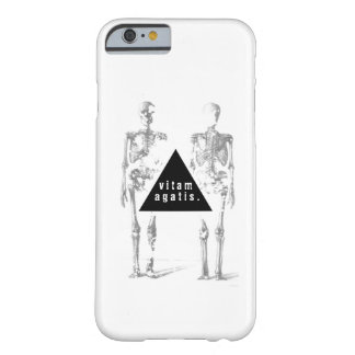 Greyscale human skeleton - 'live your life' barely there iPhone 6 case