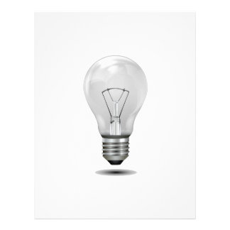 greyscale lightbulb graphic realistic png flyer design