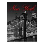 Greyscale New York Script Post Card