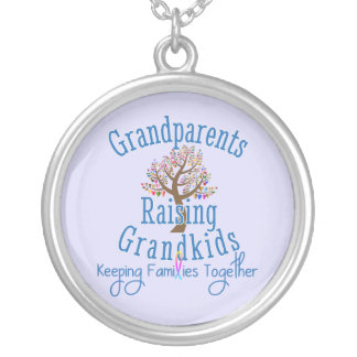 GRG Logo Family Tree Silver Plated Necklace