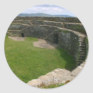 Griahan of Aileach stone fort Round Sticker