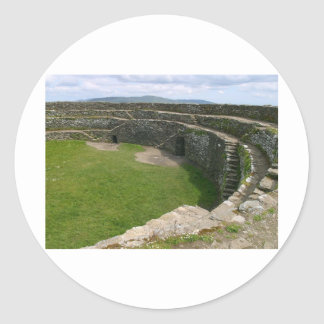 Griahan of Aileach stone fort Round Sticker