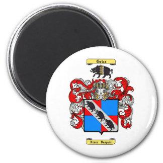 grice 6 cm round magnet