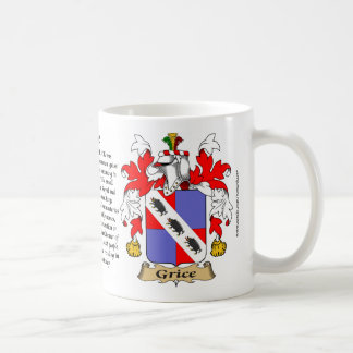 Grice, the Origin, the Meaning and the Crest Coffee Mug