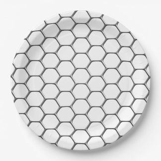 GRID 9 INCH PAPER PLATE