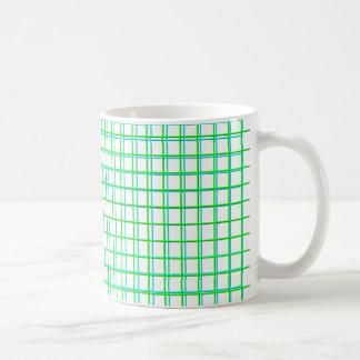 grid azur, grid green coffee mugs