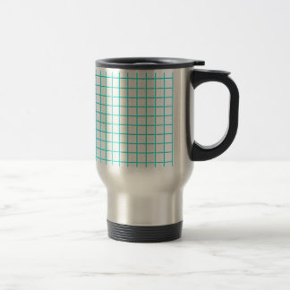 grid azur stainless steel travel mug