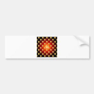 Grid background bumper sticker