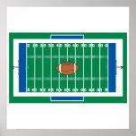 grid iron football field graphic