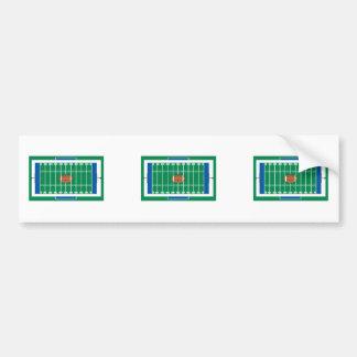 grid iron football field graphic bumper stickers