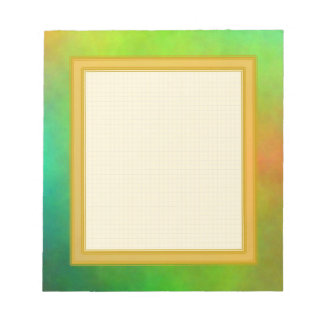 Grid Lined Green Small Note Pad Scratch Pads