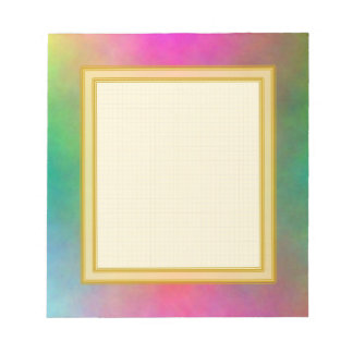 Grid Lined Pink Sunrise Small Note Pad Note Pad