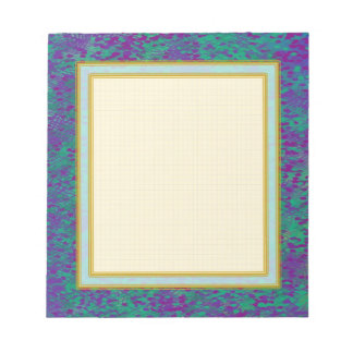 Grid Lined Purple Teal Small Note Pad Note Pad