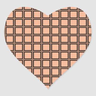 Grid Melon and Black Heart Sticker