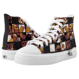 Grid of Cats High Top Shoes