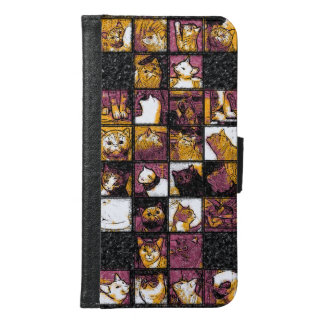 Grid of Cats Samsung and iPhone Wallet Case