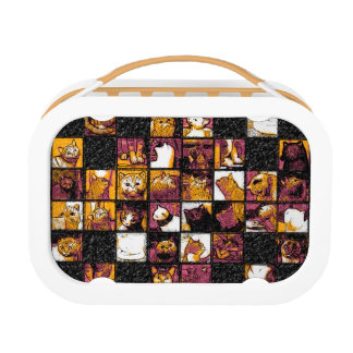 Grid of Cats Yubo Lunchbox