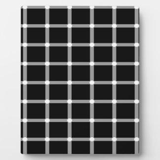 Grid Optical Illusion Design Plaque