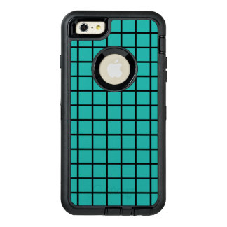 Grid seamless pattern black + your backgr. & ideas OtterBox defender iPhone case