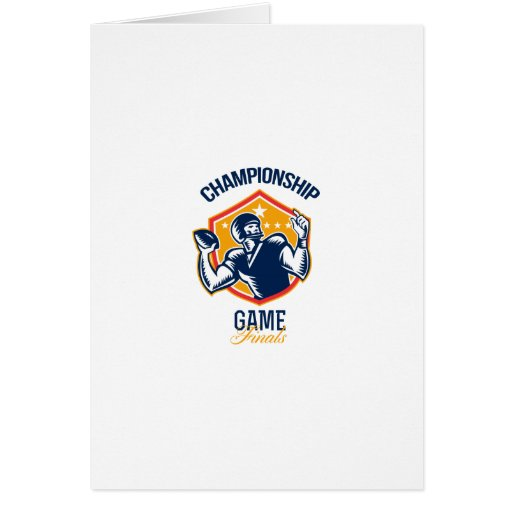 Gridiron Football Quarterback Championship Game Cards