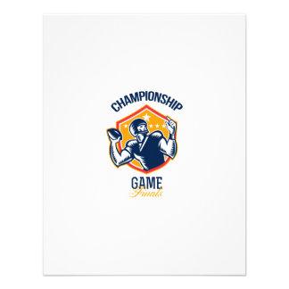 Gridiron Football Quarterback Championship Game Announcement