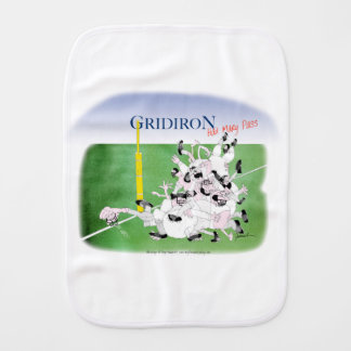 Gridiron hail mary pass, tony fernandes burp cloths