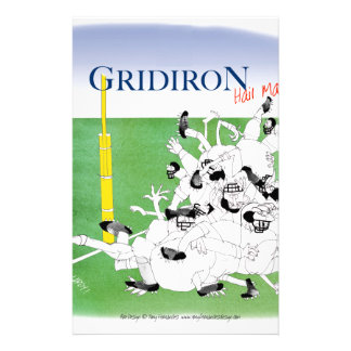 Gridiron -'hail mary pass', tony fernandes stationery paper