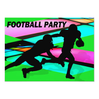 Gridiron Lights Football Party Personalized Announcement