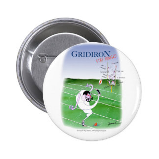 Gridiron  stay focused, tony fernandes 6 cm round badge