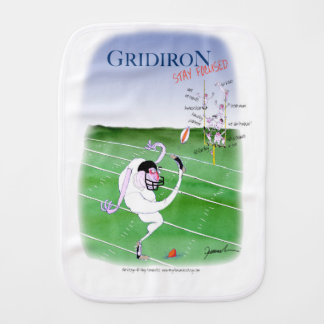 Gridiron  stay focused, tony fernandes baby burp cloths