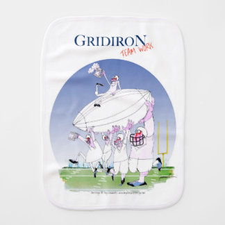 Gridiron - team work, tony fernandes baby burp cloths