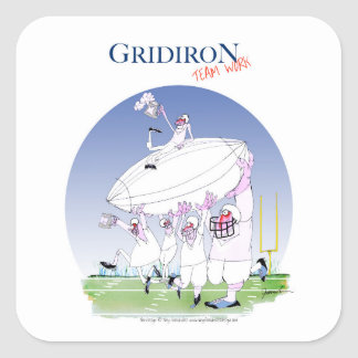 Gridiron teamwork, tony fernandes square sticker