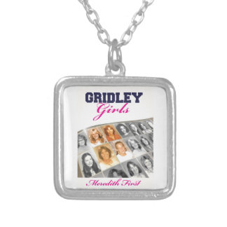 Gridley Girls Book Cover Square Pendant Necklace
