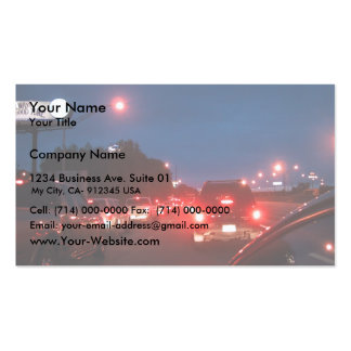 Gridlock / Traffic Jam At Twighlight As Cars Are D Business Card Template