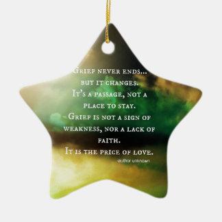 GRIEF never ends Christmas Ornament