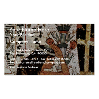 Grieving Widow Of The Mummy By Maler Der Grabkamme Double-Sided Standard Business Cards (Pack Of 100)