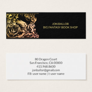Book shop business cards business card printing zazzle uk griffin beast fantasy book shop mini business card reheart Images