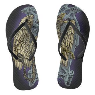 Griffin Crest Flip Flops