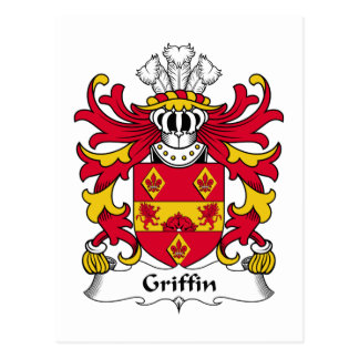 Griffin Family Crest Postcard