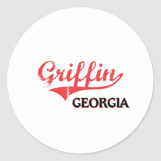 Griffin Georgia City Classic Round Stickers