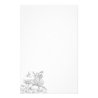 Griffin / Gryphon Gothic Stationery