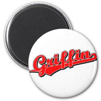 Griffin in Red 6 Cm Round Magnet