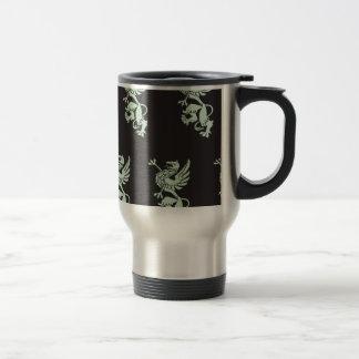 Griffin mint blck coffee mug