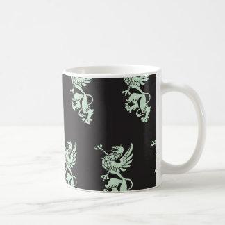 Griffin mint blck coffee mugs