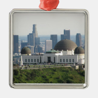 Griffith Observatory and Downtown Los Angeles Christmas Ornament