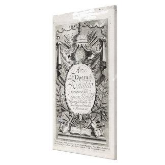 Griffon' of Rene Robert Cavelier de la Salle Canvas Print