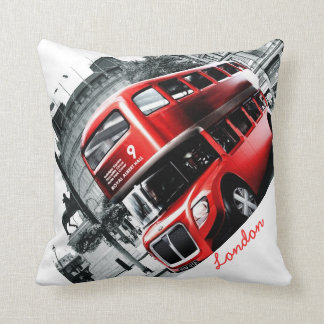 """GRIG-STYLE London BusThrow Pillow 16"""" x 16"""""""